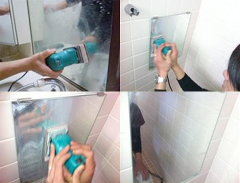 鏡磨き洗浄写真